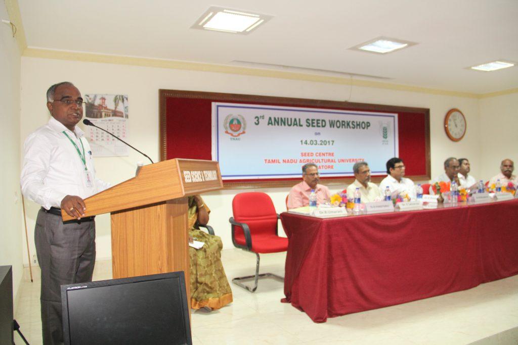 Dr.K.Ganesamurthy, Director, CPBG, TNAU, Coimbatore
