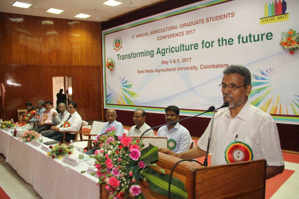 Dr. K. Ramasamy, Vice-Chancellor, TNAU, Coimbatore