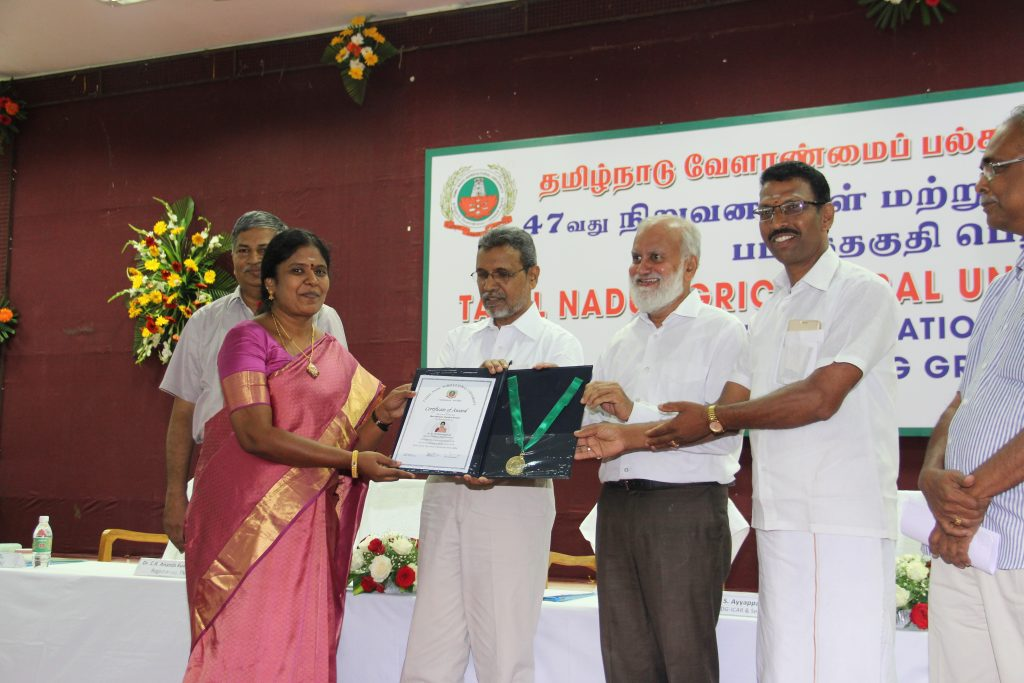 Best Women Scientist Award - Dr. G. Thiribhuvanamala