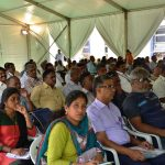 Part of the audience at the Inauguration Ceremony of Agri INTEX 2017, Codissia Grounds