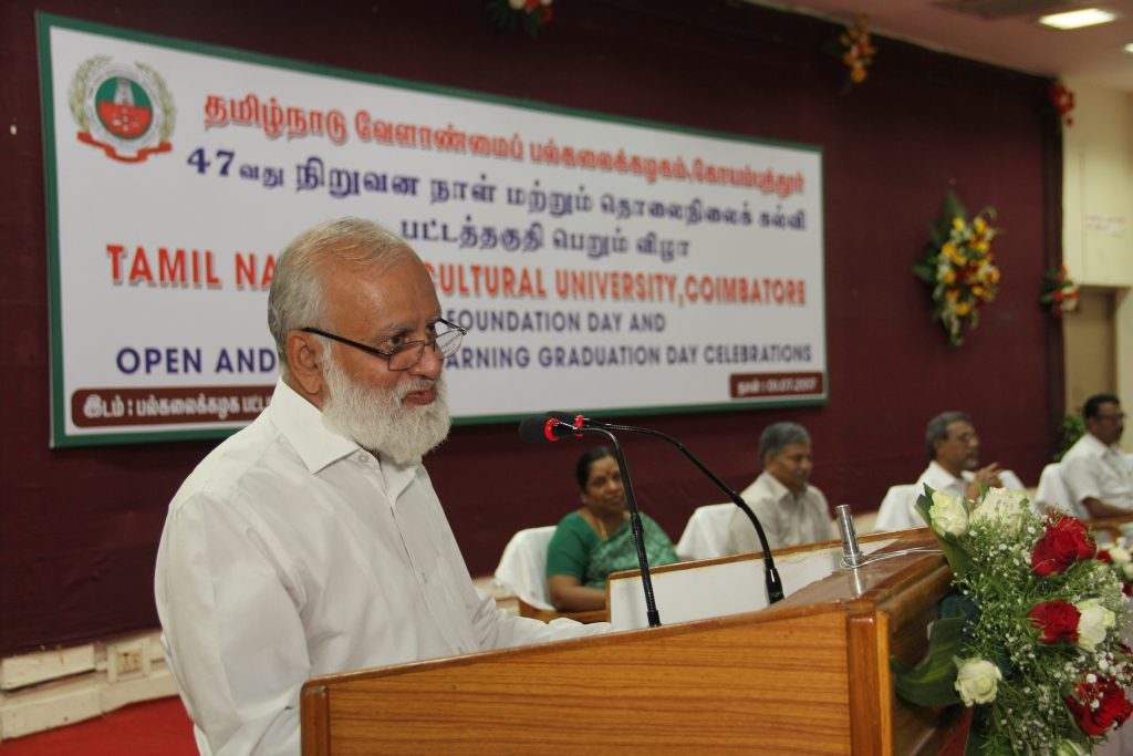 Dr. S. Ayyappan, Former Director General, ICAR & NABARD Chair Professor